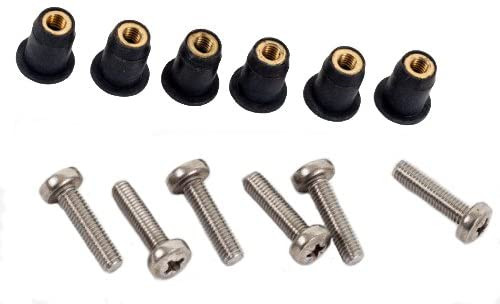 M5 Neoprene Well Nut M5 With 20mm Marine Grade Stainless Steel Pozi Screw (Pack 6) (E)…