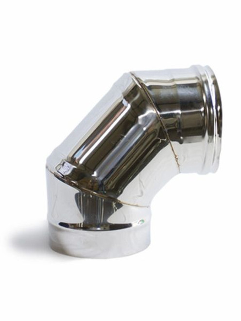 MAXIMUS OVEN STAINLESS STEEL 90 ° FLUE JOINT BEND