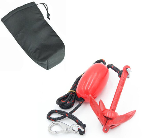 H2o 700 Gram Folding Anchor Kit Inc 7.6 m Line and Marking Float, Bag and Stainless Clip