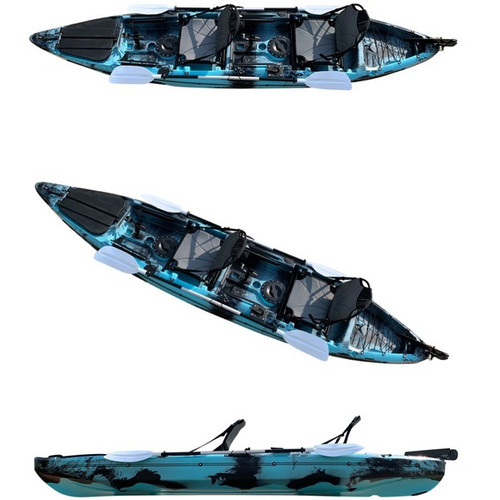 The New 2021Fury Double Sit on Top Kayak With Deluxe Seat, Rod Holders & Paddles