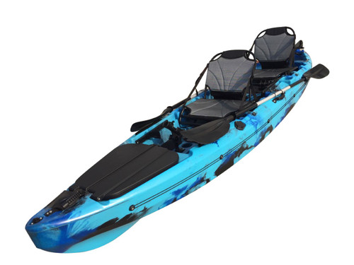 The New 2021 Fury Double Sit on Top Kayak With Deluxe Seat, Rod Holders & Paddles