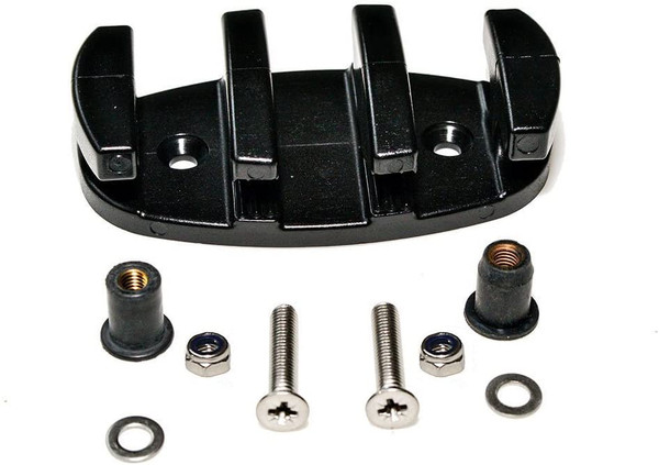 H2o Kayaks Zig Zag Cleat with Marine Grade Stainless Steel Fixings & Well Nuts
