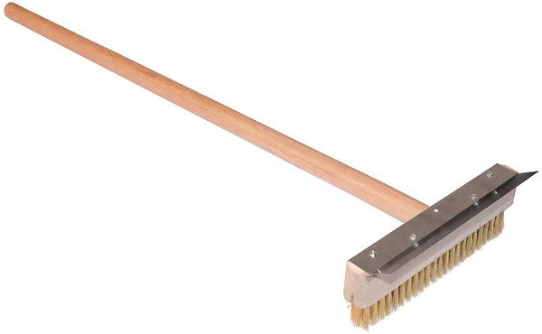 Commercial Grade 67 cm Wood-fired oven hardwood pizza brush with handle