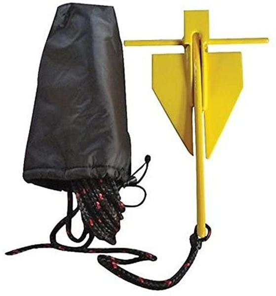 H2o Rubberised Yellow Danforth Anchor Kit