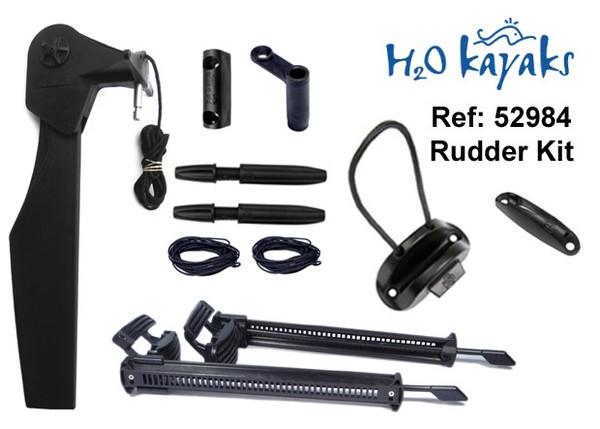 H2O Universal Kayak Rudder Kit (quick release pin)