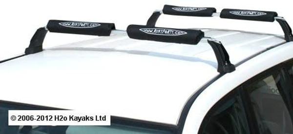 Ruk Roof Bar Fitting Canoe or Kayak (4 Pads