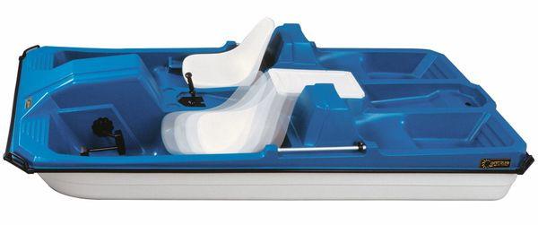 Commander 5 Seat Pedal Boat Blue/White