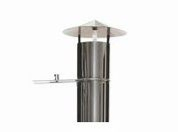 Maximus Oven Stainless Steel Flue With Cap and Vent Control Maximus Cowl Cap