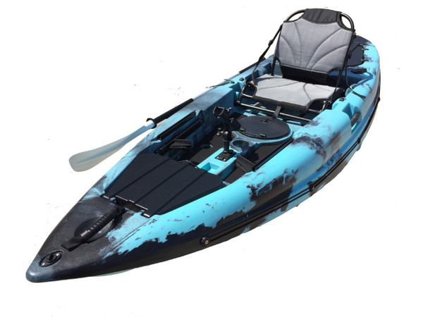 The New Fury 10 Sit on Top Kayak With Deluxe Seat, Rod Holders & Paddle