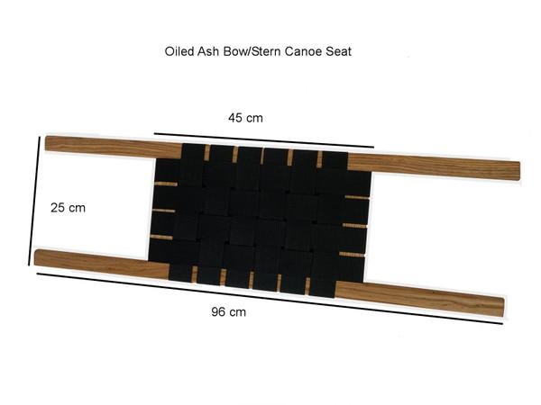 Canoe Bow/Stern  Oiled Ash Seat
