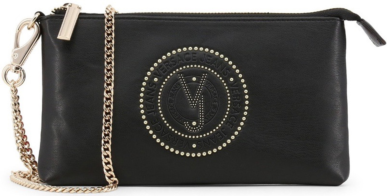 aba572f9 Versace Jeans, Woman's Clutch Bag, with removable shoulder strap, Black 2