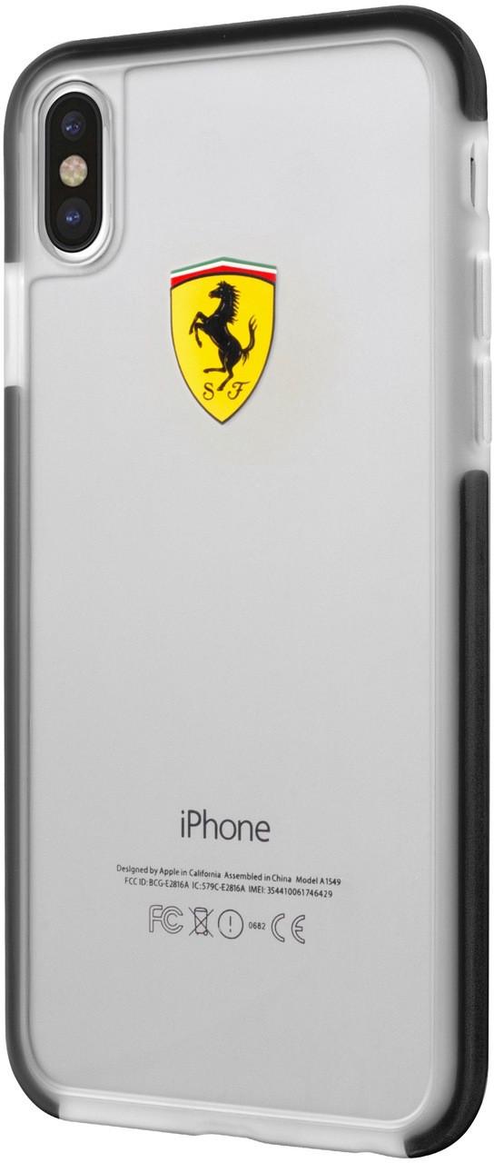 watch 39b86 557af Ferrari, Case for iPhone Xs/X , SHOCKPROOF, Transparent - Black