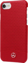 """Mercedes , Case for iPhone 8/7 , collection """"WAVE II"""",  Genuine Leather - Perforated, Red"""