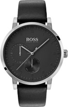 Hugo Boss Watch, Oxygen  collection, Stainless Steel, Black Dial, Black Leather Strap