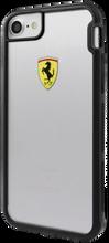 "Ferrari , SHOCKPROOF  Case case for iPhone 8/7, collection ""Racing Shield "",  Bi-Material,  Black Bumper"