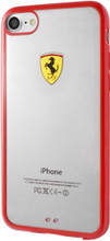 """Ferrari , SHOCKPROOF  Case case for iPhone 8/7, collection """"Racing Shield """",  Bi-Material,  Red Bumper"""