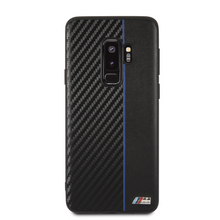 BMW, Case for Samsung S9 +,  Bi-Material Carbon  - Navy