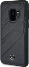 """Case for Samsung S9, Mercedes, Collection """"NEW ORGANIC I """",  Genuine Leather, Navy"""