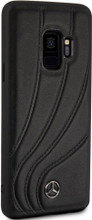 """Case for Samsung S9, Mercedes, Collection """"NEW ORGANIC II """",   Genuine Leather,  Black"""