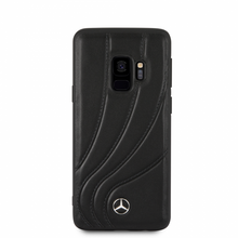 "Mercedes, Case for Samsung S9,  Collection ""NEW ORGANIC II "",   Genuine Leather,  Black"