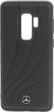 """Case for Samsung S9+, Mercedes collection """"NEW ORGANIC II """",  Genuine Leather,  Black"""