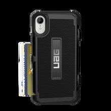 UAG, Trooper Series Card case for iPhone Xr, Black/Black