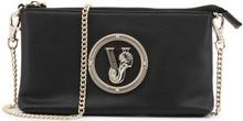 Versace Jeans, Clutch Bag, with removable shoulder strap, Black
