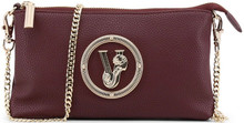 Versace Jeans, Clutch Bag, with removable shoulder strap, Burgundy