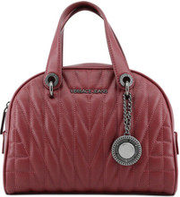 Versace Jeans, HandBag, Silver Logo, stitching, Red