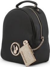Versace Jeans, front logo Backpack, Black