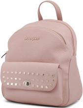 Blu Byblos, Backpack,  Gold tone logo, Pink