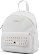 Blu Byblos, Backpack,  Gold tone logo, White
