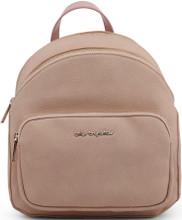 Blu Byblos, Backpack, External pocket,  Gold tone logo, Biege