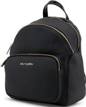 Blu Byblos, Backpack, External pocket,  Gold tone logo, Black
