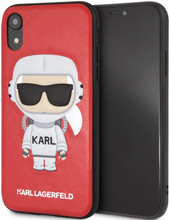 Karl Lagerfeld, Case for iPhone Xr, Karl Space, Cosmonaut,  Red