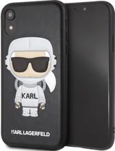 Karl Lagerfeld, Case for iPhone Xr, Karl Space, Cosmonaut,  Black