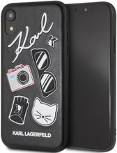 Karl Lagerfeld, Pins Accessories Embossed ,  Case for iPhone Xr