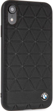 BMW , case for iPhone Xr, Genuine Leather, Hexagon, Black