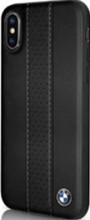 BMW , case for iPhone Xr, Perforated Center Stripe, Genuine Leather, Black