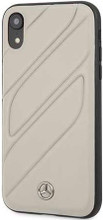 """Mercedes , Case for iPhone Xr, collection """"NEW ORGANIC I """", Genuine leather, Crystal Grey"""