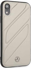 "Mercedes , Case for iPhone Xr, collection ""NEW ORGANIC I "", Genuine leather, Crystal Grey"