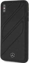 """Mercedes , Case for iPhone Xr, collection """"NEW ORGANIC I """", Genuine leather, Black"""