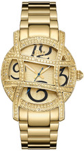 JBW, OLYMPIA,  Woman Luxury diamond watch, 20 DIAMONDS, Gold floral embossed dial