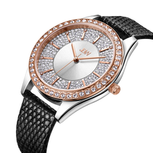 JBW, Mondrian 10 YR,  Woman Luxury 12 DIAMONDS watch, Silver brushed dial with accented Swarovski crystals