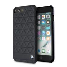 BMW , case for iPhone 8/7 Plus, Genuine Leather , Hexagon - Black