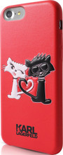 "Karl Lagerfeld ,  Embossed Case for iPhone 8/7 , collection ""CHOUPETTE IN LOVE"" ,  Red"