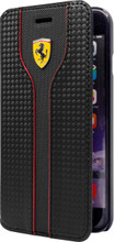 Booktype, Ferrari Racing for Samsung S7 Edge, Carbon Fiber/PU leather, Black.