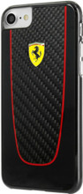 FERRARI - SF PIT STOP HARD CASE REAL CARBON for iPhone 8/7  - ( BLACK )