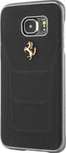 "Hard-case, Ferrari ""488"" Collection for Samsumg S7, Genuine Leather, Black."