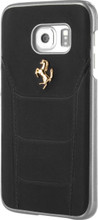 "Hard-case, Ferrari ""488"" Collection for Samsumg S7 Edge, Genuine Leather, Black."
